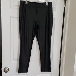 GAP Pleather and Stretch Black Leggings Size XL